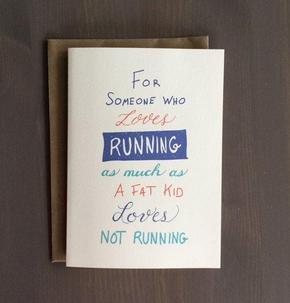 For someone who loves running Card - Running Gift