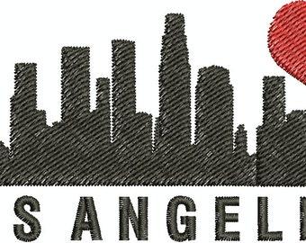 Digital Embroidery Designs - I love Los Angeles