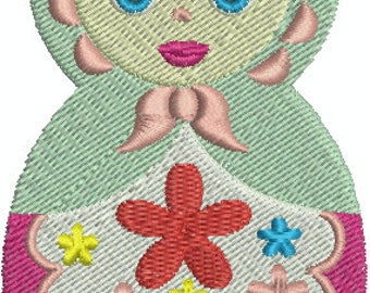 Babushka digital embroidery design