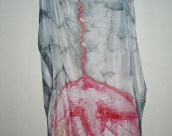 Harmonio natural silk scarf, 90 x 140 cm or 35 x 55 in