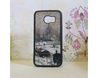 Amsterdam in the Snow (Monet) - Rubber Samsung Galaxy S3 S4 S5 S6 Case