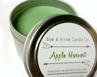 2 oz Natural Soy Candle Apple Scented   2 oz Tin Candle   Apple Scented   Apple Soy Candle   Fruit Scented Candle   Scented Soy Candle  