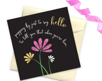Christian card Thinking of you greeting card Encouragement card