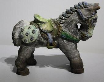 céramic raku the horse