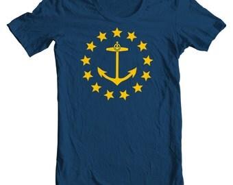 Rhode Island T-shirt - Rhode Island State Flag From 1882 - Rhode Island T-shirt