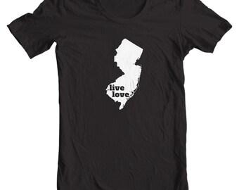 New Jersey T-shirt - Live Love New Jersey - My State New Jersey T-shirt