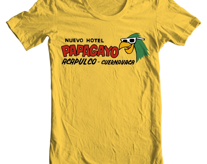 Hotel Papagayo Acapulco Vintage Travel Sticker T-shirt