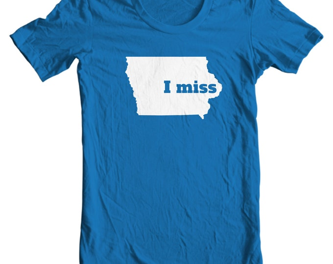Iowa T-shirt - I Miss Iowa - My State Iowa T-shirt