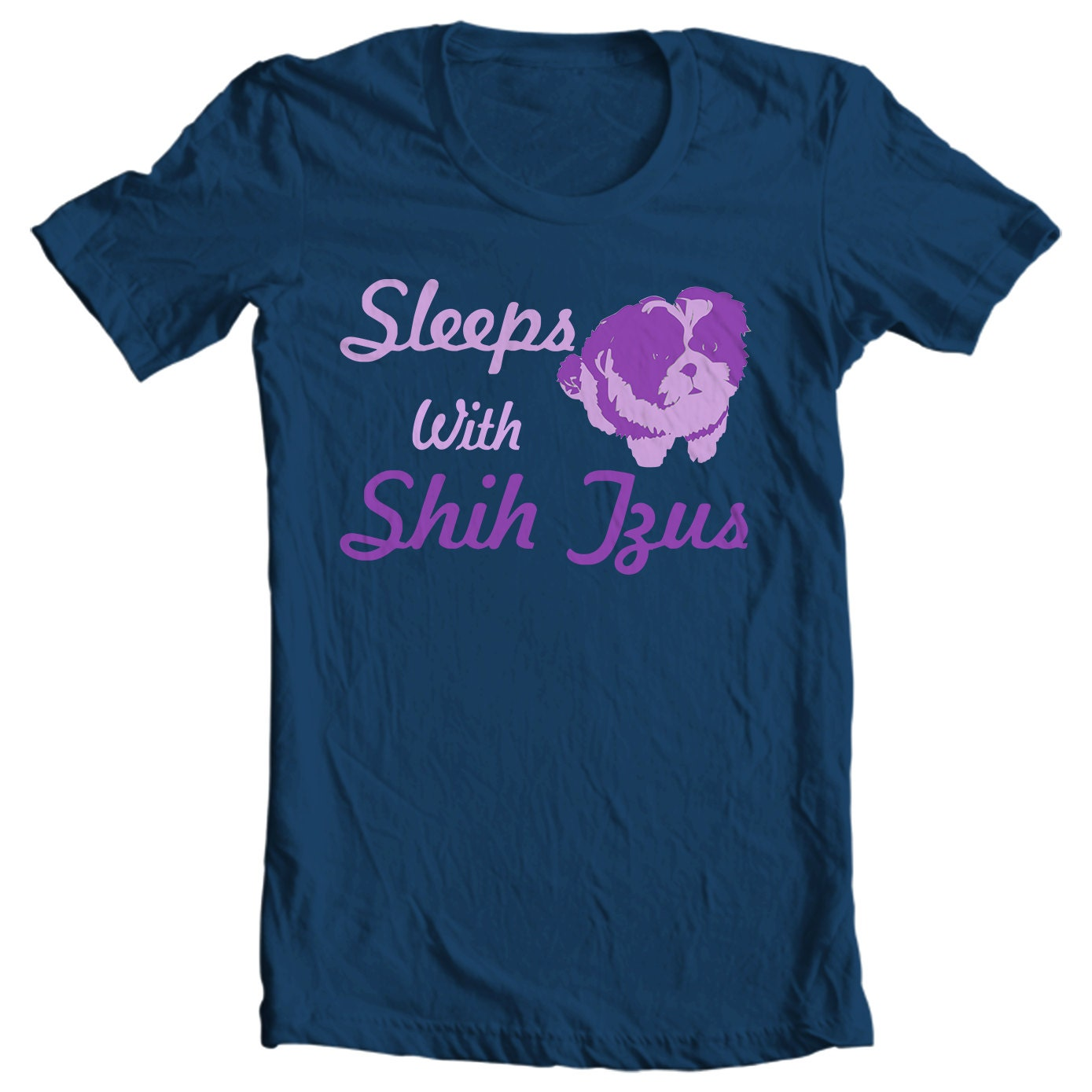 Sleeps With Shih Tzus T-shirt - Only Shih Tzus