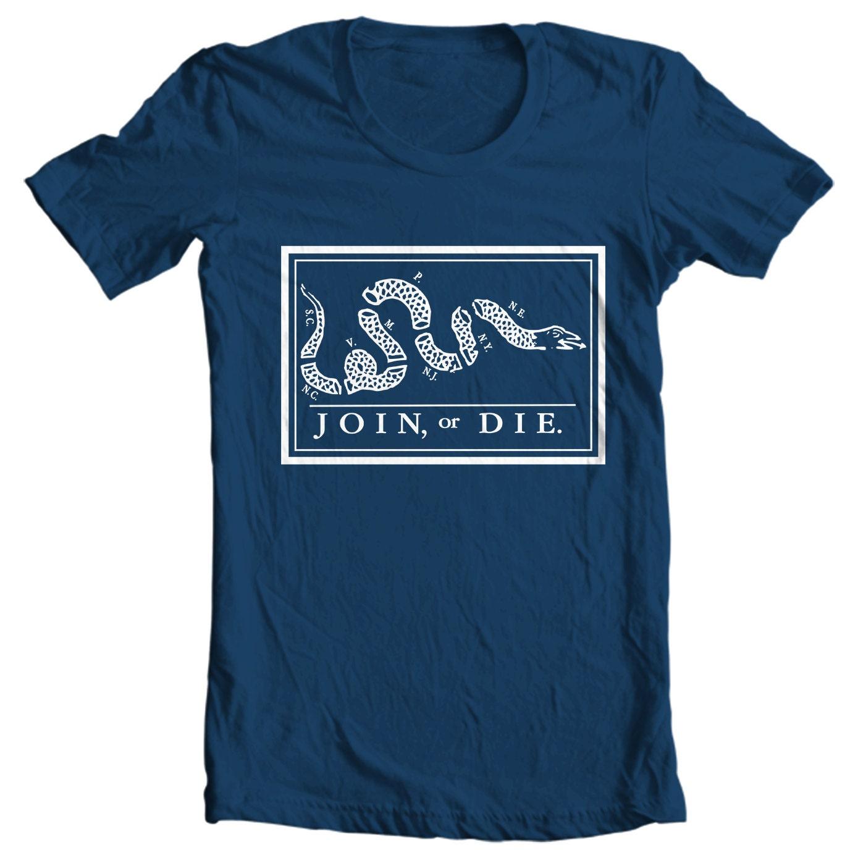 Join or Die - Benjamin Franklin Political Cartoon Pamphlet T-shirt