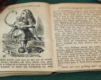 "Vintage Alice in Wonderland Miniature Library (3"" x 4"" Book)"