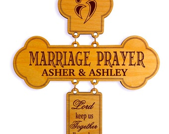 Personalized Marriage Prayer, Custom Wedding Gift, Anniversary Gift for a Couple, Gift from Mom, Dad, Pastor, Family, Friends to a Couple,