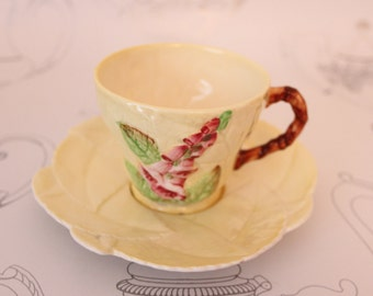 Carlton Ware Foxglove Cup and Saucer