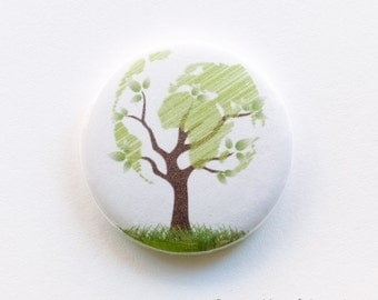 Tree globe button badge (25mm)