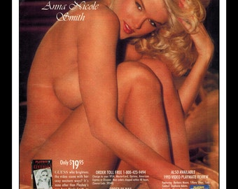"Mature Celebrity Nude : Anna Nicole Smith Single Page Photo Wall Art Decor 8.5"" x 11"""