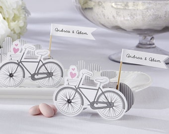 Wedding Vintage-inspired Bicycle Favor Box with Placecard holder (Set of 24)