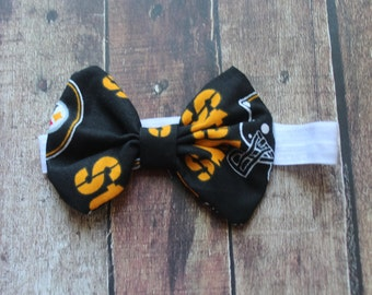 Steelers Fabric Bow on Headband
