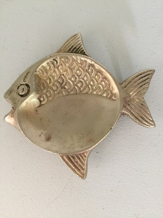 Brass fish tea bag spoon rest ring holder decorative for Fish tea bags