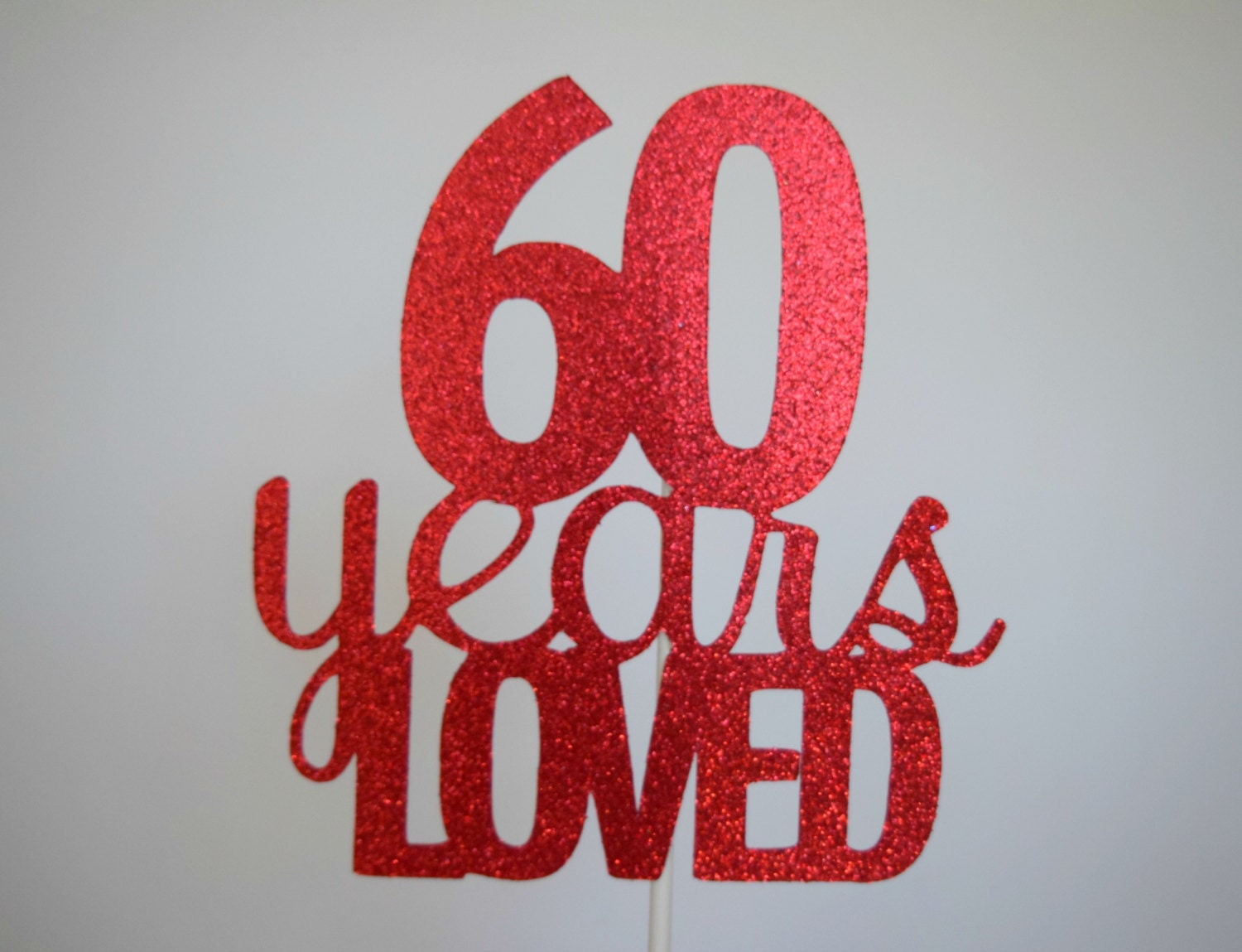 Cake Toppers Uk Birthdays : 60th Birthday Cake Topper 60th Anniversary Cake Topper 60