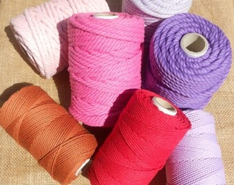 10rolls (+ Free 1roll) of Twisted Cotton Rope 4.5mm