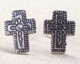 Sterling Silver Southwest Cross Studs ( New Lower Price )