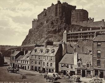 George Washington Wilson Photo, Edinburgh Castle from Grassmarket, 1865