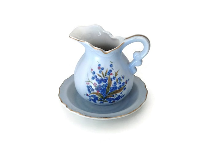 Miniature Pitcher and Basin hand painted from Lefton China.