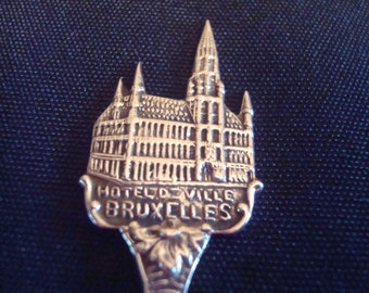 Sterling Silver collectors spoon Hotel DeVille Bruxelles Germany