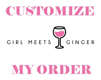 Customize/ Personalize Order