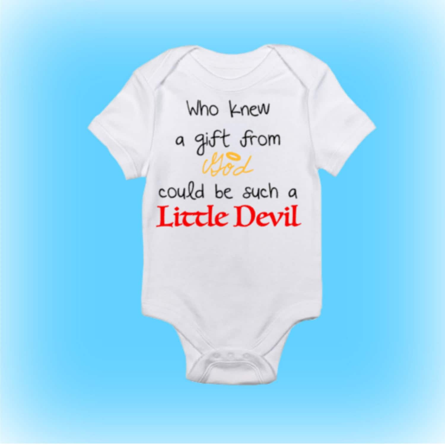 Uncategorized Onesie For Baby Shower little devil baby unique shower gift shower