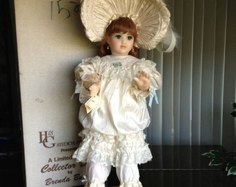 Amanda- Rare Brenda Burke Wax Over Porcelain Doll- LE of 25