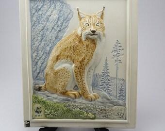 Jie Gantofta Wall Plaque for World Wild Fund Designed by Staffan Johnson in Sweden