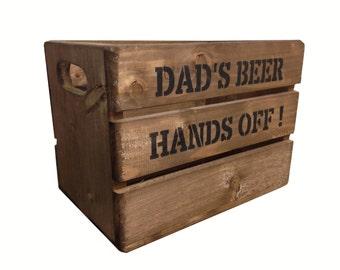 Personalised Rustic Wooden Beer Crate Box
