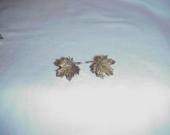 14k Gold Maple Leaf Clip Rico Earrings