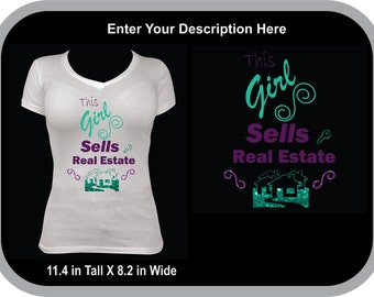 This Girls Sells Real Estate  Can be Personalized!