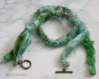 handmade green mermaid jewelry, sari bracelet, unique wrap bracelet, gifts for women,rts