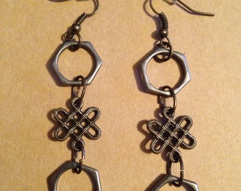 Double Infinity Two Toned Earrings