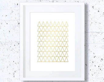 Golden Triangles,Geometry Print,Multiple,Repetition,Abstract,Art Print,Printable Art,Downloadable,Wall Decor,Minimalist Art,Gold,Minimal Art