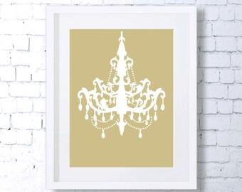 Chandelier, Gold, Art Print, Golden Printable Art, Downloadable, Kitchen Art, Minimal Art, Minimalist Art, Wall Print, Home Decor