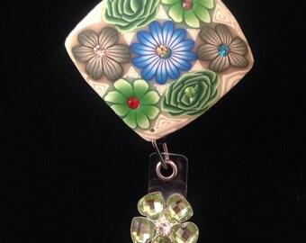 Garden Mural -Nurse Retractable ID Badge Reel/ RN Badge Holder/Doctor Badge Reel/Nurse Badge Holder/Student Nurse badge reel/ nursing gift/