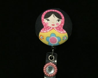 Matrishka Doll -Nurse Retractable ID Badge Reel/ RN Badge Holder/Doctor Badge Reel/Nurse Badge Holder/Student Nurse badge reel/ nursing gift