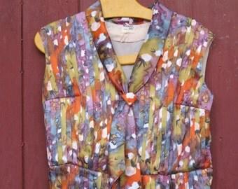 1980s amazing accordeon pleats floral dress
