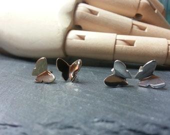 Flutter Butterfly Studs in Sterling Silver