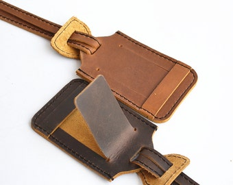 Handmade Leather Luggage Tag