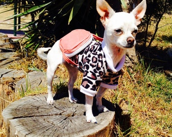 Leopard animal print Sweater - Dog clothes - Dog clothing -  Dog backpack - Pet clothes - Pet backpack - Pet clothing - Leopard animal print