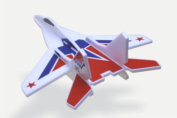 Airplane toy MiG 29 Set of 6 air planes Throwing glider Styrofoam air Jet Birthday gift Birthday game Aircraft model kits Airjet for kids