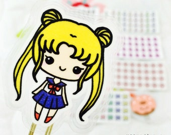 SAILORMOON Laminated Bookmark - Cute Paperclip, Laminated  perfect for , s, journals  note