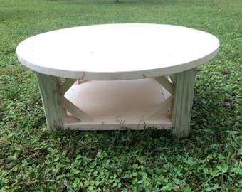 Items Similar To Distressed Off White Round Coffee Table On Etsy