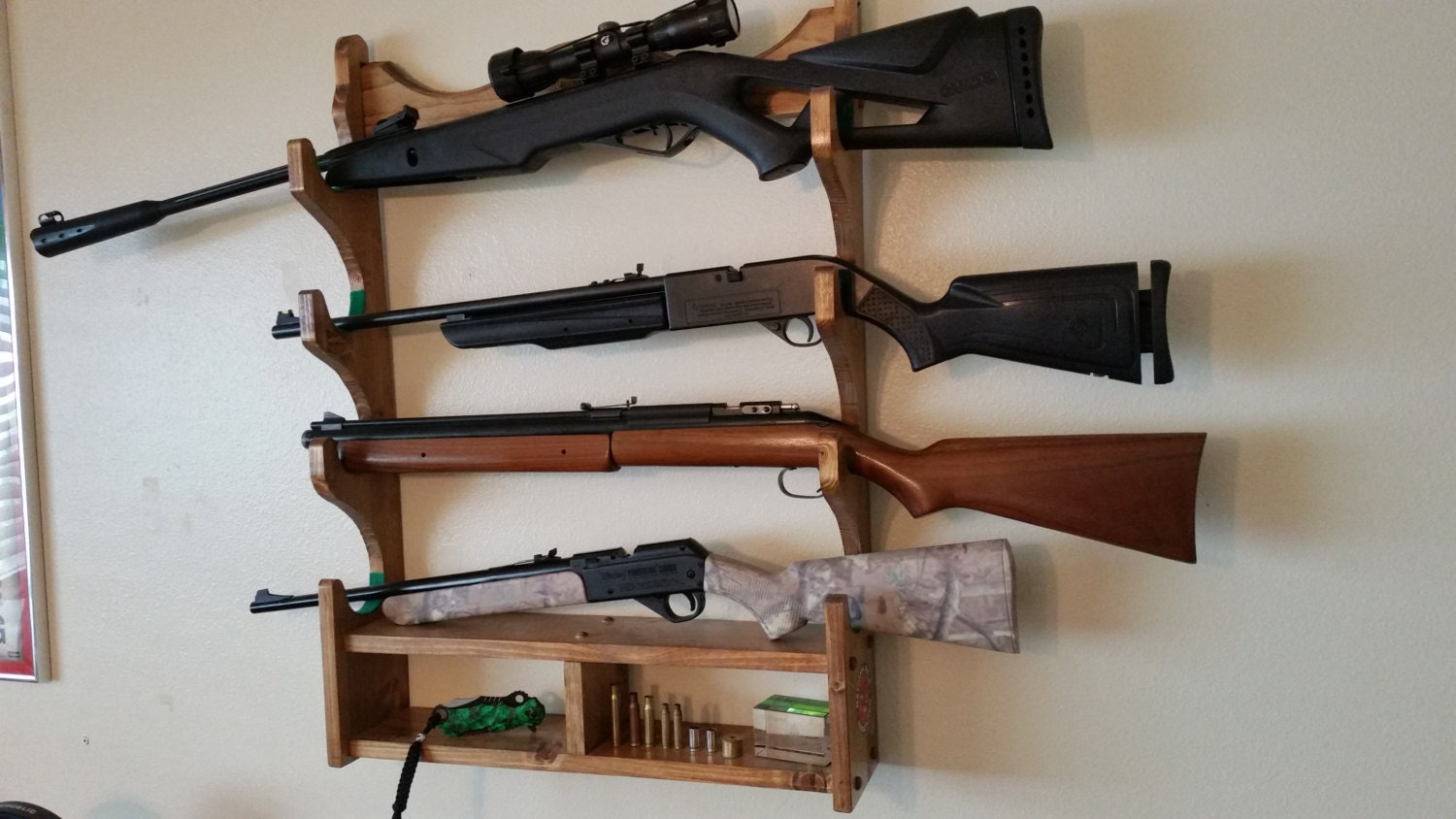 Gun Rack Rifle Rack Solid Southern Pine Wood By NaturesMoon. Full resolution‎  pic, nominally Width 1500 Height 844 pixels, pic with #2B613C.
