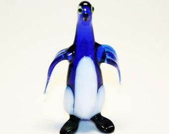 Glass figurine Penguin handmade One of a kind #530